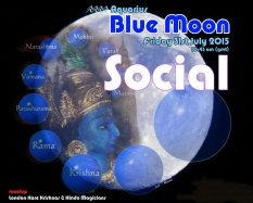 Blue Moon social & visit to Krishna Temple