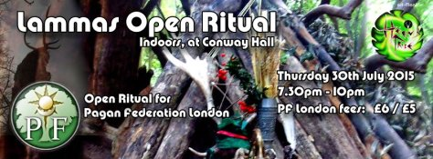 PF London Lammas 2015 - indoor seasonal ritual facilitated by Herns Tribe