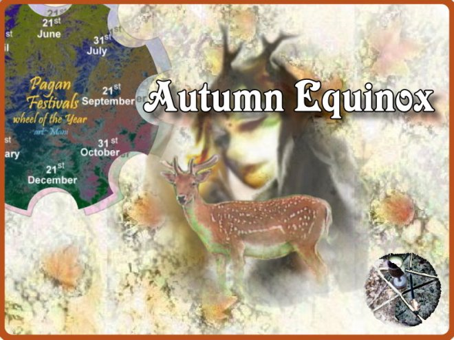 Outdoor Autumn Equinox ritual in London woods - sept 2015
