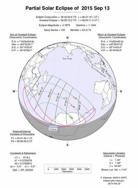 Partial Solar Eclipse 13 sept 2015 (c) Fred Espenak NASA