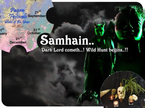London Woodlnd Wiccan Samhain open ritual 31 Oct 2015 by Mani & friends