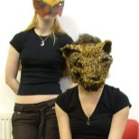 Falcon & Leopard masks - Art of Mani
