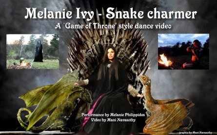 Melanie Ivy -Throne with dragons - PR pic (c) Mani Navasothy 2016