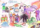 Poster-Starship Exavier-1985 StAlbans
