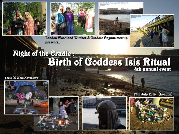 Night of the Cradle : Ritual for Birth of Goddess Isis (photos 19July16)