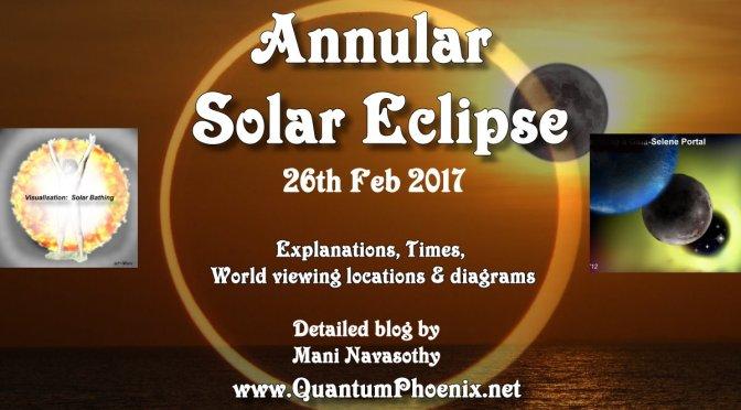 Annular Solar Eclipse- full details – Sunday 26th February 2017 (and deciphering scientific diagram)