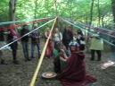 Woodland Beltane 2017- Maypole dancing