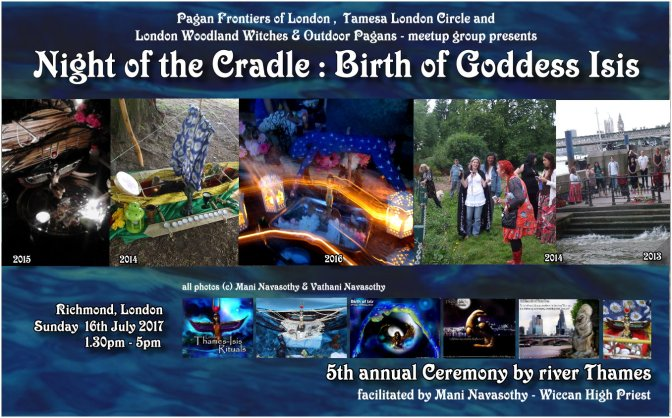 Night of the Cradle – Birth of Goddess Isis Ritual (Richmond, London) 16July17