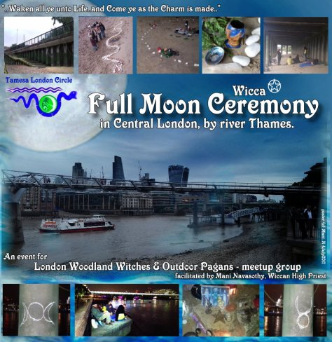 TLC Full Moon Ritual by Thames - summer 2017- poster