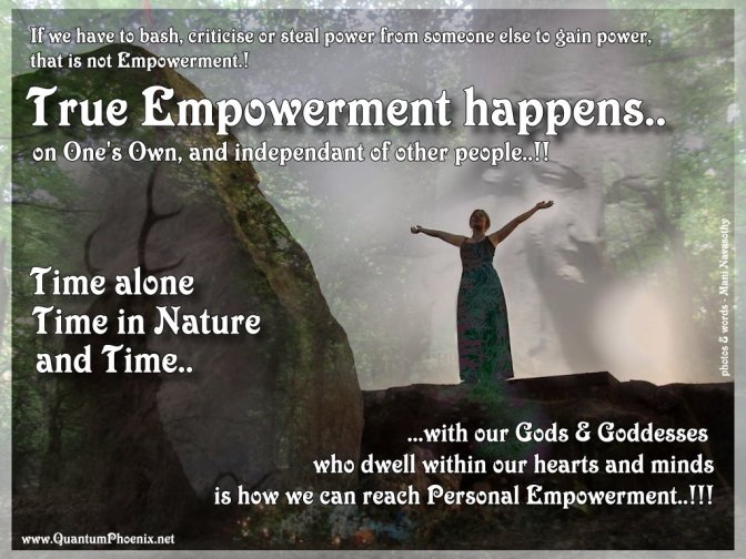 True Empowerment happens when..