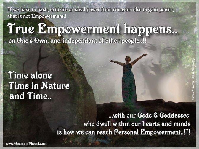 True Empowerment happens when..