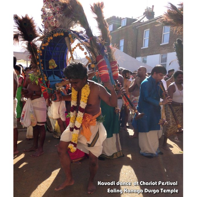 Carrying a Kavadi at the Ealing Durga Chariot Festival (Aug2017)