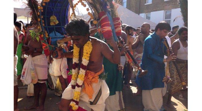 Carrying a Kavadi at the Ealing Durga Chariot Festival (Aug2017)