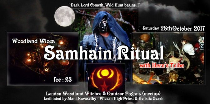 Woodland Wicca Samhain 2017 –  Seasonal Ritual & Halloween Gathering (28Oct17)