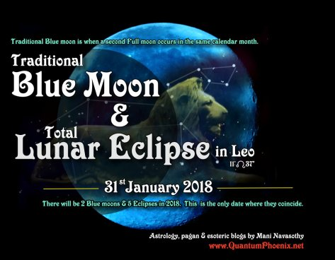 Blue moon & lunar eclipse 31 January 2018 (c) Mani N