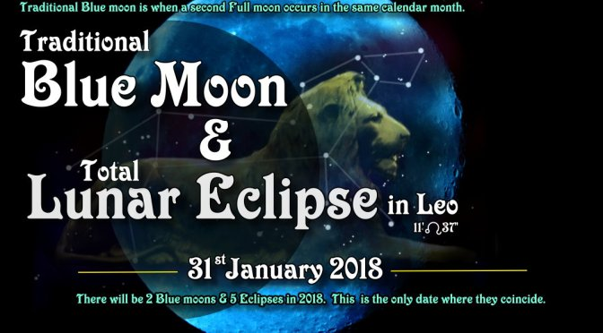 Blue Moon & Total Lunar Eclipse  (31Jan'2018)