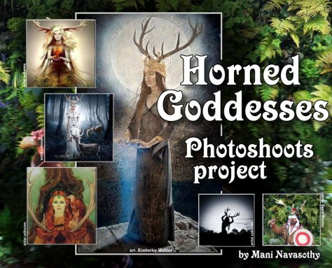 Horned Goddess photoshoots