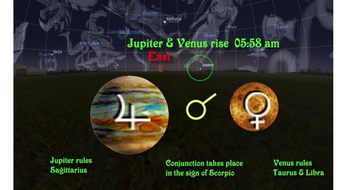 Jupiter conjuncts Venus – 13th Nov'2017