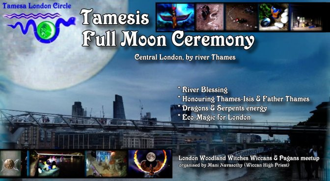 Tamesis Full Moon Ceremony – London- river Thames (31st Jan'18)