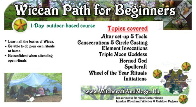 Wiccan Path for Beginners: 1-day Course (London, outdoors) Fee £13