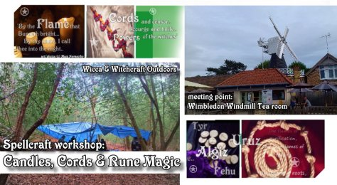 learn basic wicca spellcraft in woodland setting - Candle magic, Cord magic & Rune magic - taught by Mani Navasothy Wiccan High Priest