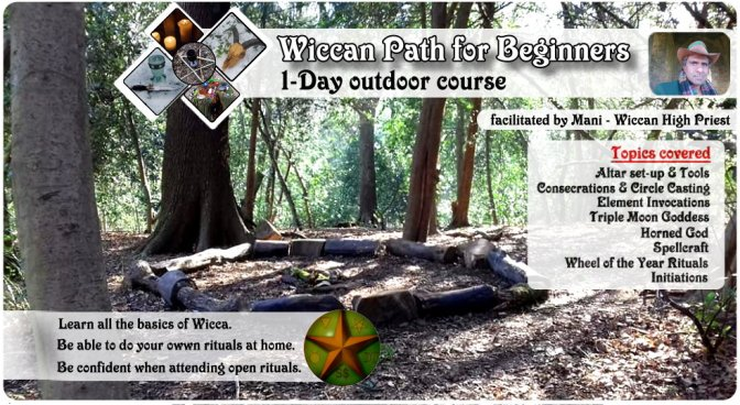 Wiccan Path for Beginners (outdoor 1-day course) – 21st April 2018