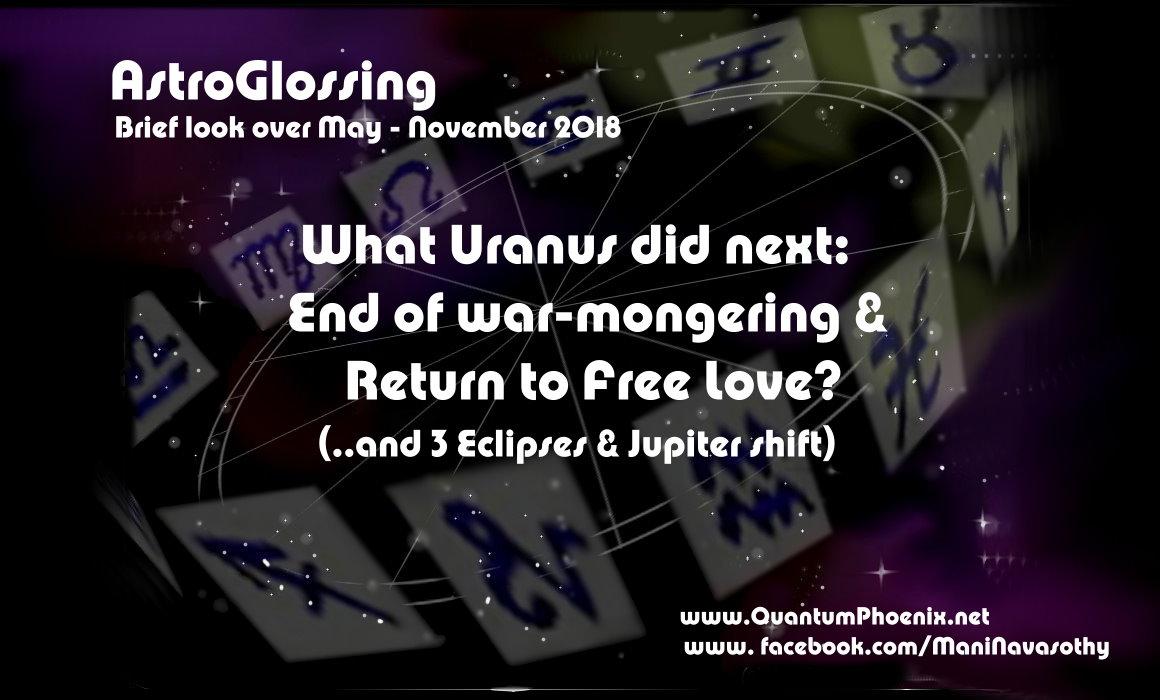 astroGlossing - May to November 2018 by Mani Navasothy