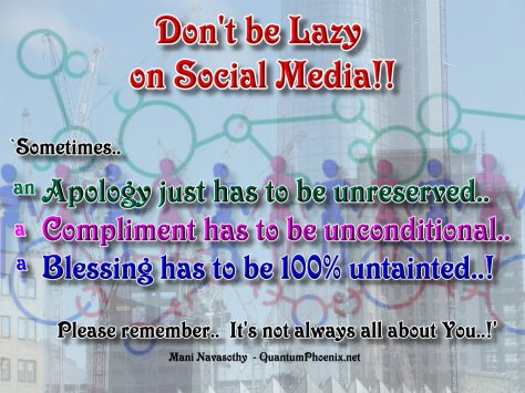 Dont be lazy on social media