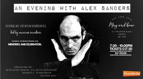 evening with alex sanders 9june18