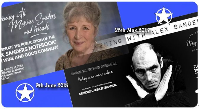 Alex Sanders & Maxine Sanders events in London (May & June 2018)