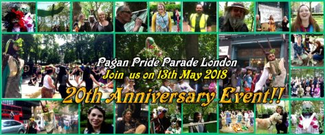 Pagan Pride Parade London 2018 -event cover