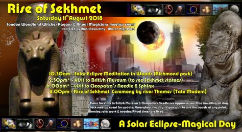 Poster- Rise of Sekhment - solar Eclipse 11august2018