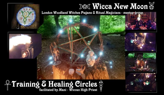 Wicca New Moon: Training & Healing Circles  (Sept-Dec 2018)