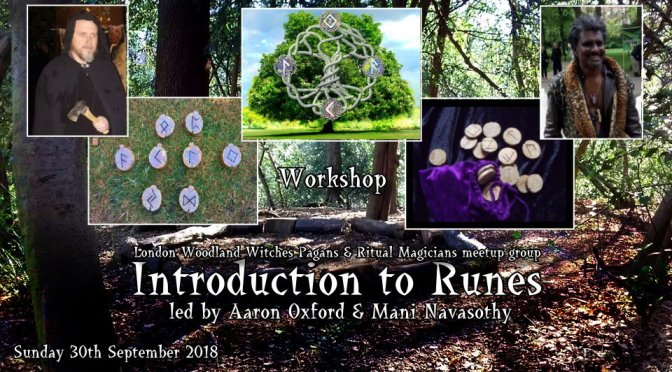 Introduction to Runes- experiential workshop (outdoors/ London) -30sept18