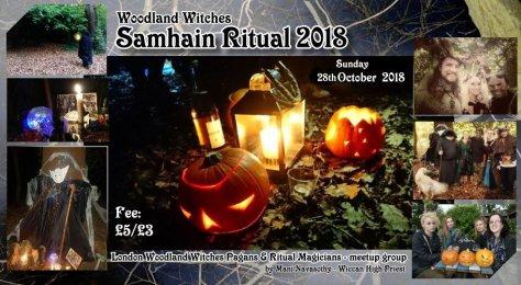 Woodland witches Samhain 2018- sunday28th
