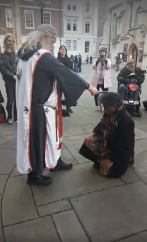 mani navasothy knighted by King Arthur Pendragon 2017