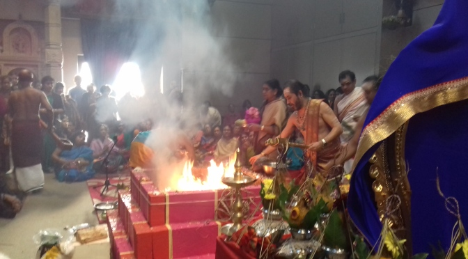 Ganapathy temple Homam – fire ceremony (pics)