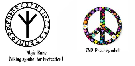 Algiz protection rune & CND peace symbol - Mani Navasothy QuantumPhoenix.jpg