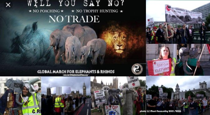 The 5th Global March for Elephants and Rhinos – Saturday 13th April'19 (London)