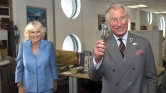 Prince Charles and the Duchess of Cornwall visit the set of Doctor Who