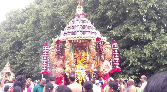 video- Wimbledon Ganapathy Temple – chariot Festival 2019