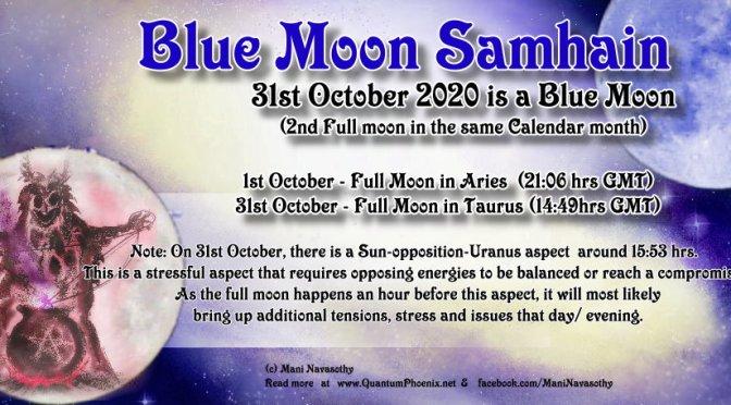 Blue Moon Samhain (Halloween 2020)