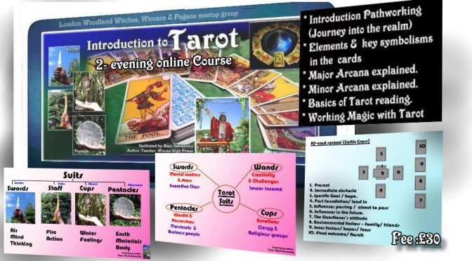 Introduction to Tarot (online 2-evenings Course)