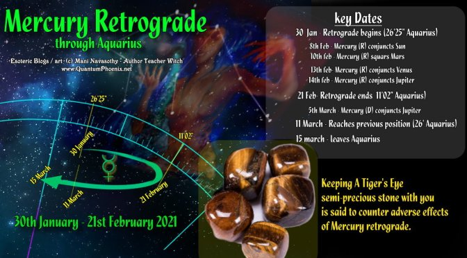 Mercury Retrograde through Aquarius (30Jan-21Feb2021) – astrology forecast