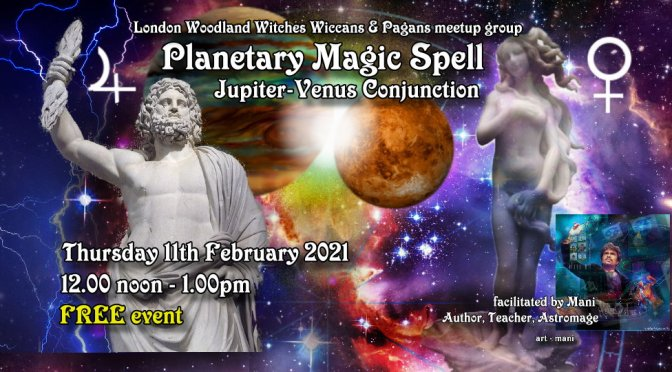 A Jupiter-Venus Good Fortune Spell (Free online) TODAY 12noon